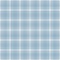 Seamless Light Blue & White Plaid Royalty Free Stock Images