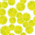 Seamless lime or lemon vector pattern. Minimalistic food background. Vitamins repeatable texture. Royalty Free Stock Photo