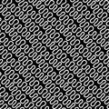 Seamless linear pattern with thin elegant curved white lines on black background. Abstract texture. Geometric background Royalty Free Stock Photo