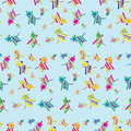 Seamless Lion Background Pattern Royalty Free Stock Image