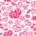 Seamless love heart flower valentine Royalty Free Stock Images