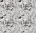 Seamless love pattern Stock Photos