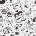 Seamless love pattern cartoon vector illustration Royalty Free Stock Image