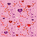 Seamless love pattern with confetti Royalty Free Stock Photos