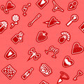 Seamless love pattern vector on theme Stock Photos