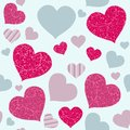 Seamless love texture colorful hearts background and valentines day design Stock Photo