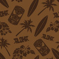 Seamless Luau Tiki Aloha Surf Pattern Royalty Free Stock Photo