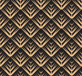 Seamless luxury gold texture with triangular scales. Royalty Free Stock Photo