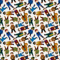 Seamless mafia pattern Royalty Free Stock Photography