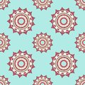 Seamless mandala pattern in cool shades on light blue background. Asian style. Backdrop for manufacturing,textile or book covers, Royalty Free Stock Photo