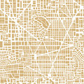 Seamless map  city plan Royalty Free Stock Photo