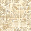 Seamless map city plan Royalty Free Stock Photo