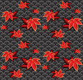 Seamless maple pattern Royalty Free Stock Photo