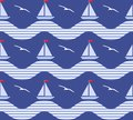 Seamless marine pattern Royalty Free Stock Images