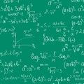 Seamless maths pattern Royalty Free Stock Photo