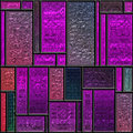 Seamless mauve textured stained glass panel Stock Image