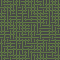 Seamless maze background green and gray Royalty Free Stock Photography