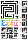 Seamless maze pattern Royalty Free Stock Image