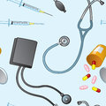 Seamless Medical Objects Royalty Free Stock Image