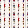 Seamless medieval people pattern Stock Image
