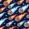 Seamless meteor rain