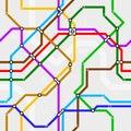 Seamless metro scheme Stock Images