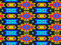 Seamless Mexican Psychedelic Pattern Stock Photos