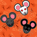 Seamless mice pattern Royalty Free Stock Photos