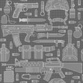 Seamless military pattern can be used for graphic design textile design or web design Stock Image