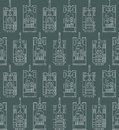 Seamless military pattern with tanks