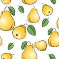 Seamless modell - gula pears Arkivbilder