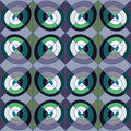 Seamless modern pattern or background with squares and circles. Royalty Free Stock Photo