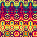 Seamless Modern Pattern in New Techno - Tribal Style Royalty Free Stock Photo