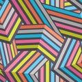 Seamless Modern Stripped Geometric Pattern