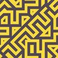 Seamless Modern Tangled Lines Pattern