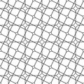 Seamless monochrome angular curved grid pattern