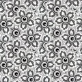 Seamless monochrome background of flowers for your design Royalty Free Stock Image