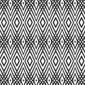 Seamless monochrome background with interlacing may be useful for print fabric wrapping packing tapestry craftsmanship scrap Stock Photos