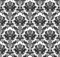 Seamless monochrome damask pat Royalty Free Stock Photography