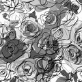 Seamless monochrome floral background this is file of eps format Royalty Free Stock Photos