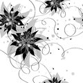Seamless monochrome floral background this is file of eps format Stock Photography
