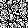 Seamless monochrome floral pattern for your design Royalty Free Stock Photography