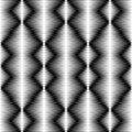 Seamless Monochrome Geometric Pattern. Vector Halftone Texture