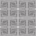 Seamless monochrome meander pattern