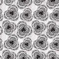Seamless monochrome pattern Royalty Free Stock Photo