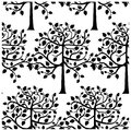 Seamless monochrome pattern from trees