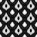 Seamless monochrome pattern your design Royalty Free Stock Photography