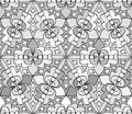 Seamless monochrome pattern for your design Stock Photos
