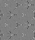 Seamless Monochrome Spirals Pattern. Geometric Abstract Background. Royalty Free Stock Photo