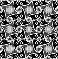Seamless monochrome wallpaper. Royalty Free Stock Photo